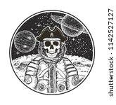 astronaut space pirate hand... | Shutterstock . vector #1142527127
