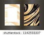 set of vector black  white and... | Shutterstock .eps vector #1142533337
