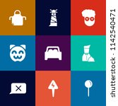 modern  simple vector icon set... | Shutterstock .eps vector #1142540471