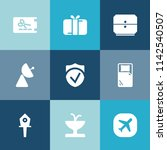modern  simple vector icon set... | Shutterstock .eps vector #1142540507