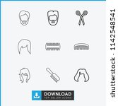 haircut icon. collection of 9... | Shutterstock .eps vector #1142548541