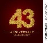43 years aniversary celebration ... | Shutterstock .eps vector #1142548964