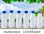 bottle water made to plastic on ... | Shutterstock . vector #1142551664
