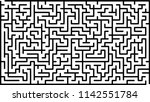 labyrinth of high complexity.... | Shutterstock .eps vector #1142551784