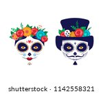 Stock vector dia de los muertos day of the dead mexican holiday festival vector poster banner and card with 1142558321