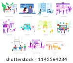 business people conceptual... | Shutterstock .eps vector #1142564234