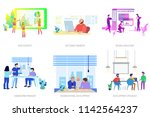 business people conceptual... | Shutterstock .eps vector #1142564237