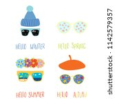 set of hand drawn vector... | Shutterstock .eps vector #1142579357