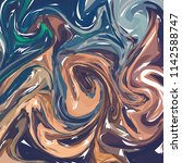 paintings with marbling. marble ... | Shutterstock .eps vector #1142588747