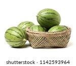 watermelon on white background  | Shutterstock . vector #1142593964