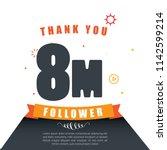 thank you follower. online... | Shutterstock .eps vector #1142599214