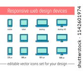 responsive design icons set...