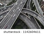 aerial view of highway and...   Shutterstock . vector #1142604611