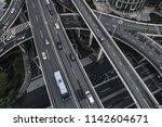 aerial view of highway and... | Shutterstock . vector #1142604671