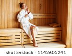 beautiful woman relaxing in... | Shutterstock . vector #1142605241