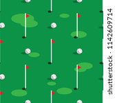 golf course pattern background. ... | Shutterstock .eps vector #1142609714