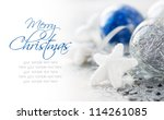 Blue And Silver Xmas Decoratio...