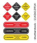 warning sticker or label keep... | Shutterstock .eps vector #1142613914