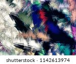 abstract psychedelic background ... | Shutterstock . vector #1142613974