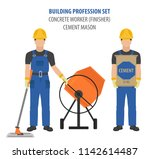 profession and occupation set.... | Shutterstock .eps vector #1142614487