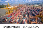 logistics and transportation of ... | Shutterstock . vector #1142614697