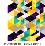 multicolored triangles abstract ... | Shutterstock .eps vector #1142618447