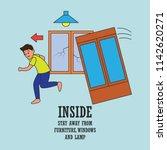 earthquake awareness for... | Shutterstock .eps vector #1142620271