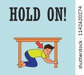 earthquake awareness for... | Shutterstock .eps vector #1142620274