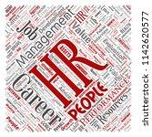 vector concept conceptual hr or ... | Shutterstock .eps vector #1142620577