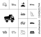automobile icon. collection of... | Shutterstock .eps vector #1142621744