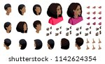 isometric create emotions for... | Shutterstock .eps vector #1142624354