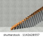 conceptual stair on wall... | Shutterstock . vector #1142628557