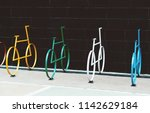 minimalist view of several... | Shutterstock . vector #1142629184