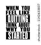 inspiring motivation quote with ... | Shutterstock .eps vector #1142633837