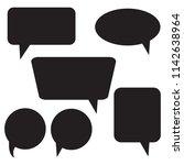 set of speech bubble icons   Shutterstock .eps vector #1142638964