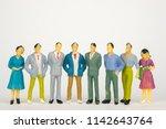 group of figure miniature... | Shutterstock . vector #1142643764