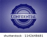 confidential badge with denim... | Shutterstock .eps vector #1142648681