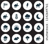 weather icons set with humidity ... | Shutterstock .eps vector #1142649761