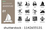 solid adventure icon pack .... | Shutterstock .eps vector #1142655131