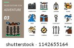 filled outline icon pack .... | Shutterstock .eps vector #1142655164