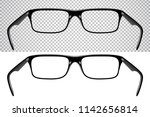 realistic glasses for vision ... | Shutterstock .eps vector #1142656814