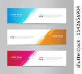 banner background. modern... | Shutterstock .eps vector #1142656904