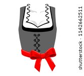 dirndl corsage with red red... | Shutterstock .eps vector #1142662511