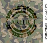 carefree on camo texture | Shutterstock .eps vector #1142664191