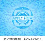 apply now light blue mosaic... | Shutterstock .eps vector #1142664344