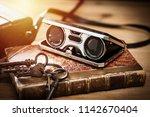 closeup vintage folding opera...   Shutterstock . vector #1142670404
