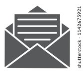 open mail glyph icon  envelope...