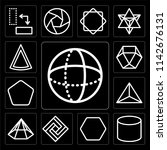 set of 13 simple editable icons ... | Shutterstock .eps vector #1142676131