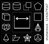 set of 13 simple editable icons ... | Shutterstock .eps vector #1142679167