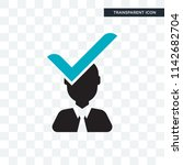 candidate vector icon isolated... | Shutterstock .eps vector #1142682704